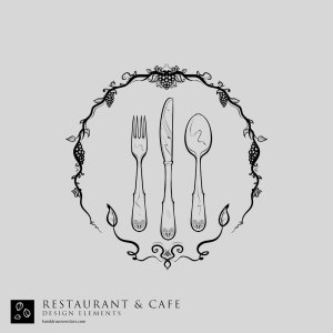 Cutlery restaurant Cafe Vector