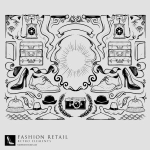 hand drawn retail collection vector