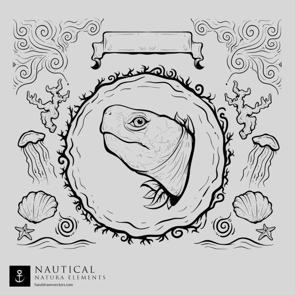 Turtle-Nautical-Vector