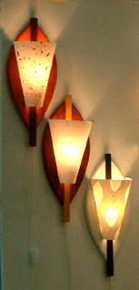 Vägglampor med utbytbar skärm