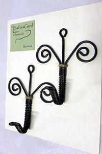 Krokar av järntråd, linoljebrända
