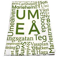 Linnehandduk med Umeåord