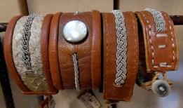 Läderarmband med tenn