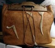 Rejäl läderväska