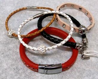 Läderarmband med magnetlås
