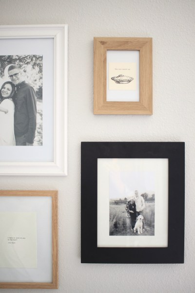 The Simplest Gallery Wall to Ever Exist