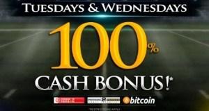 Tues. and Wed 100% Cash Bonus at BetPhoenix