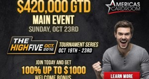 Americas Cardroom & BlackChip Poker -- $977,500 High Five Tournament Series 1