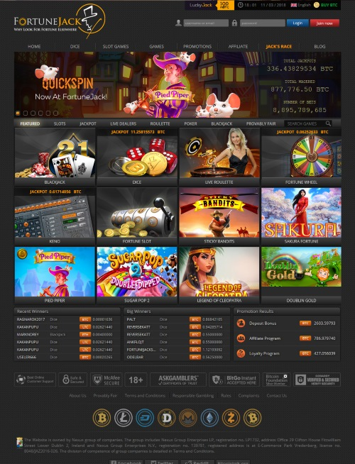 FortuneJack.com Casino Review 1