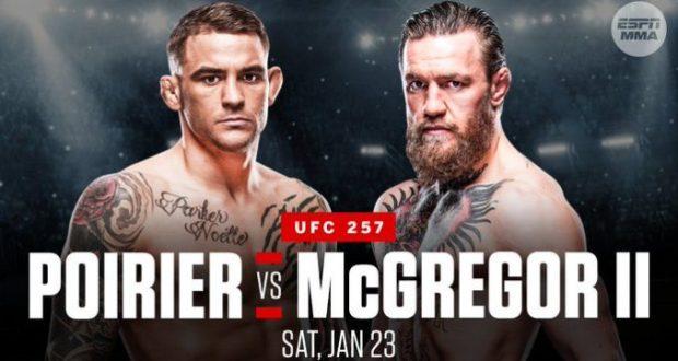 Poirier vs McGregor II at UFC 257