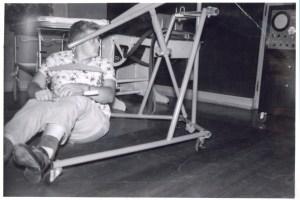 1960 JK hoist sitting on floor