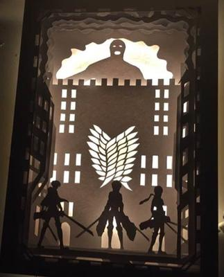 gift for fans Attack on Titan the Wings of Freedom Japanese Cartoon Handmade Lantern Home Decor, Attack on Titan End of the World Wall Decoration Idea, Attack on Titan: the Roar of Awakening Digital Pattern Instant Download