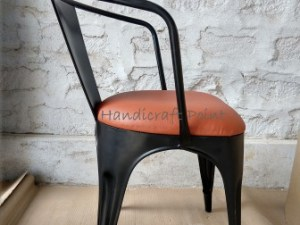 Iron Tolix Armrest with Cushion seat