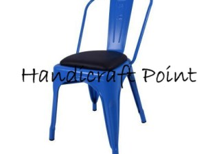 Iron Tolix chair with cushion