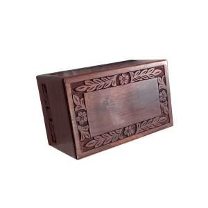 Wood Cremation Keepsake For Human Ashes, Wooden Funeral Casket Urn