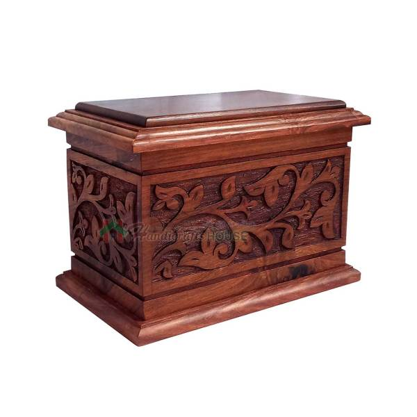 Wooden Cremation Urns, Wood Funeral Urn For Human Ashes