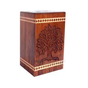 Wooden Caskets For Ashes - Wood keepsake, Decorative Timber Urns