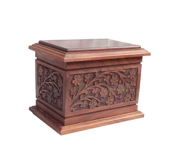 Wooden Memorials Keepsake Urn For Ashes - Wood Casket