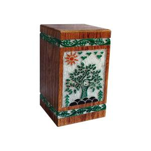 Funeral Urns For Ashes, Decorative Tableware Timber Box, Wood Cremation Urn - Memorials Boxes