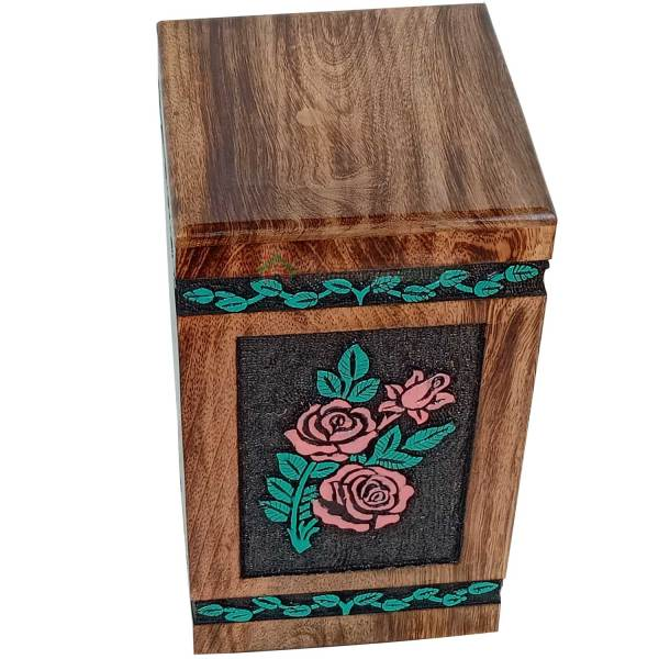 rose engraving urns for ashes