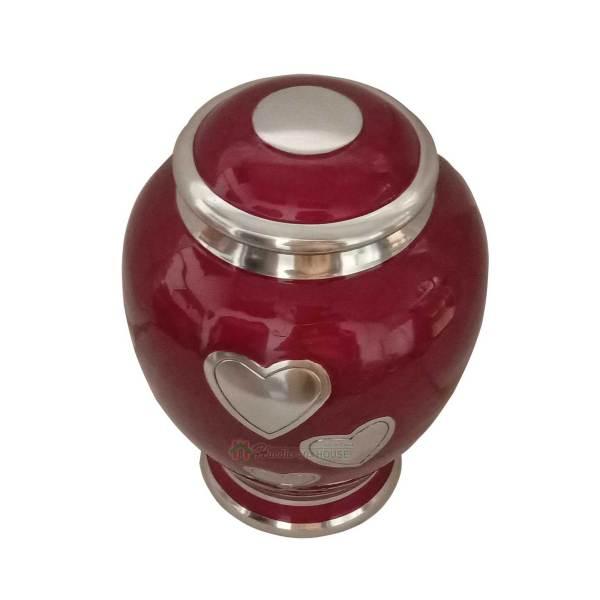 Memorials Urn for human Ash - Decorative Ashes Urns, Metal Keepsake - Funeral Casket, Metals Tableware