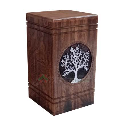 Tree of Life Wooden Cremation Urn for Human and Pet Ashes, Memorials Urns for Adult