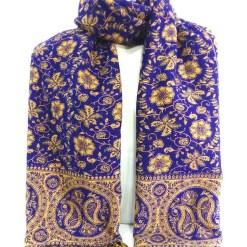 paisley woolen shawl purple