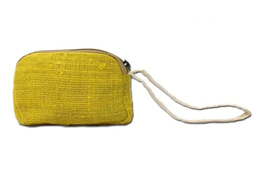 Yellow Hemp Purse