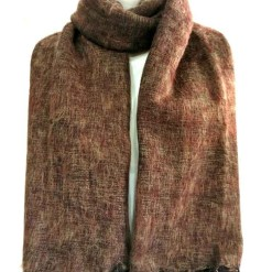 yak wool shawl brown