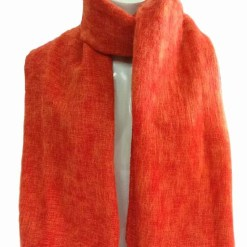 Himalayan Yak Wool Shawl Bright Orange color