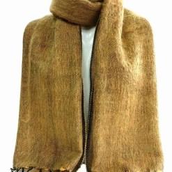 yak wool shawl rust