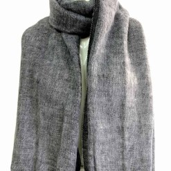 yak wool shawl grey