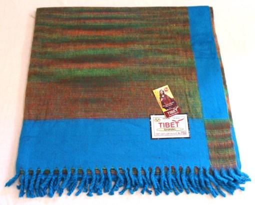 100% Yak Wool Blanket, Azure Blue Color 1