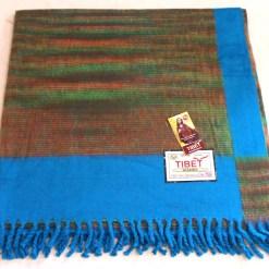 100% Yak Wool Blanket, Azure Blue Color 3