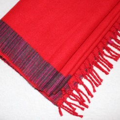 yak wool blanket candy red color