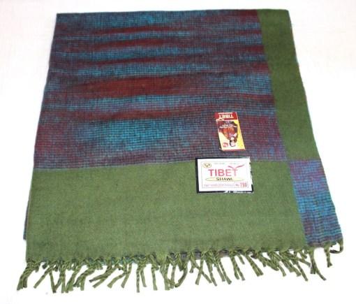 100% Yak Wool Blanket, Kelly Green Color 1