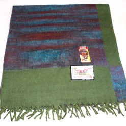 100% Yak Wool Blanket, Kelly Green Color 3