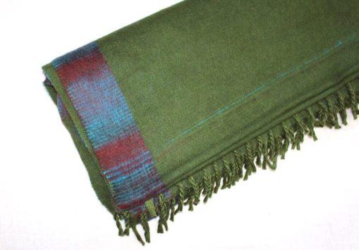 yak wool blanket light green color