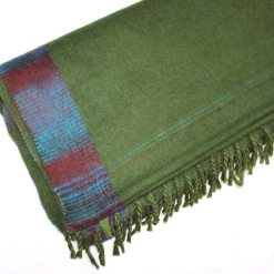 yak wool blanket light green color