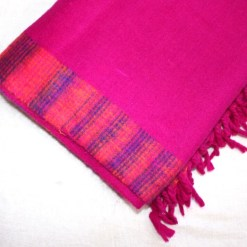 yak wool blanket hot pink color