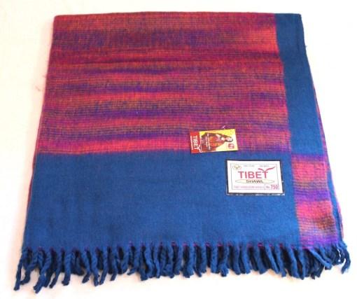 100% Yak Wool Blanket, Turquoise Color 1