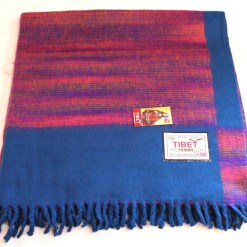 100% Yak Wool Blanket, Turquoise Color 3