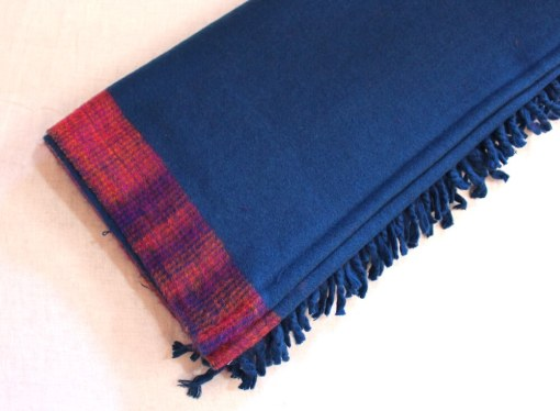 yak wool blanket turquoise color