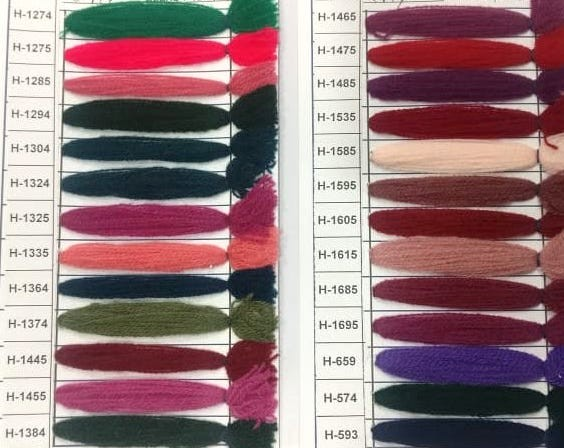 Yak Wool Color Chart 12