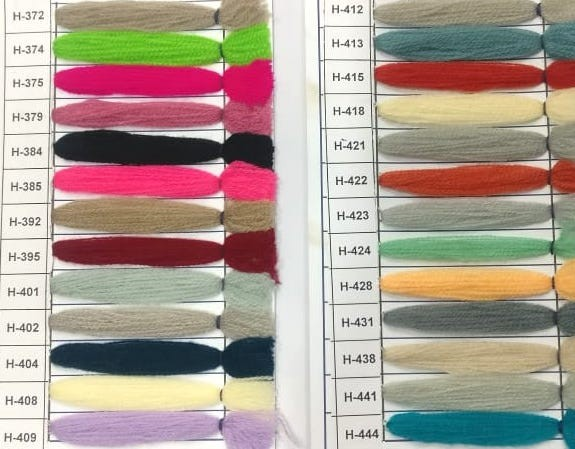 Yak Wool Color Chart 5