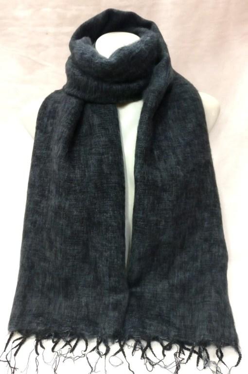 Himalayan Yak Wool Shawl Dark Grey colors