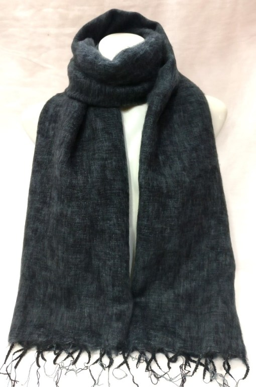 Himalayan Yak Wool Shawl Dark Grey colors