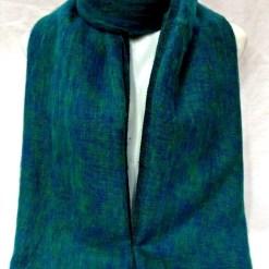 Himalayan Yak Wool Shawl Teal colors