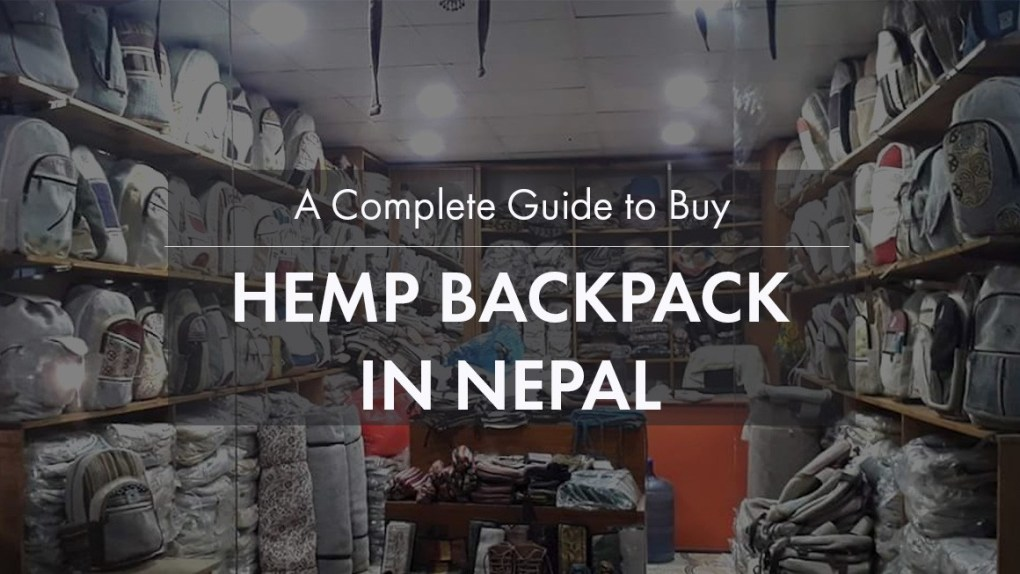 hemp backpack nepal