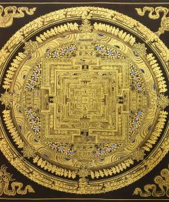 black golden mandala thangka